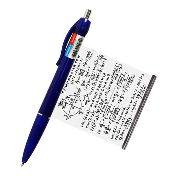 в ручках шпаргалки